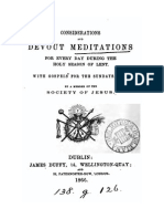 Considerations and Devout Meditations for Lent
