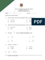 MT K1 Thn 5 ( Ujian Mac 2015)