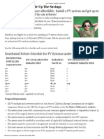 Silicon Valley Power - Residential Rebate Schedule