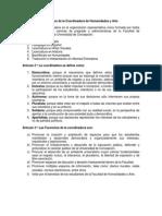 Coordinadora Humanidades y Arte - Estatutos Aprobados