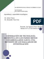 Generación de Tecnología Doméstica en Los Países Menos Desarrollados (LDCs) Una Revisión de Los Hallazgos de Investigación