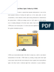 how to test fiber optic cables by otdr