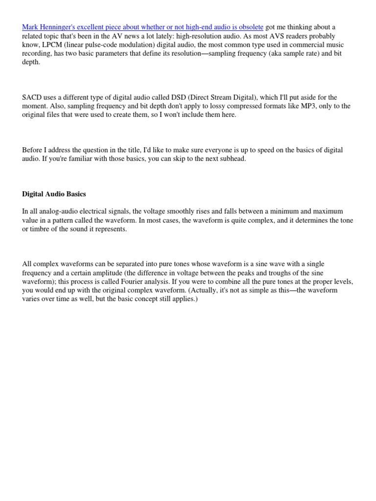 Digital Audio Basics | Sampling (Signal Processing) | Digital Audio