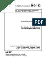 NIST standard for Polystyrene Film