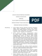 Uu 28 Tahun 2009 Pajak Daerah Dan Retribusi Daerah