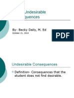 using undesirable consequences