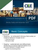 teaching through behavioral strategies