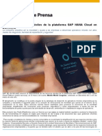 SAP lanza servicios móviles de la plataforma HANA Cloud en el Congreso de Movilidad en Barcelona