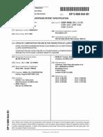 Europian Patent
