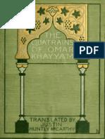 Quatrains of Omar Khayyam - Trans. Justin Huntly McCarthy