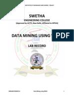 Data Warehousing and Data Mining Lab Manual
