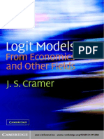 Cambridge University Press,.Logit Models From Economics and Other Fields.[2003.ISBN0521815886]