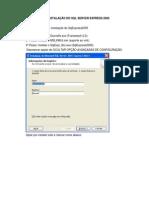 Roteiro Para Instalação Do SQL Server Express 2005