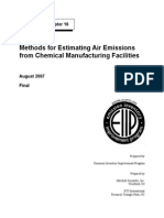 Methods for Estimating Air Emissions From Chemical Manufacturing Facilities