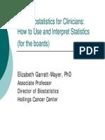 Basic Bio Statistics for Clinicians