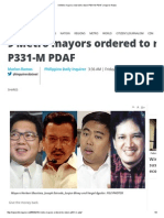 9 Metro Mayors Ordered to Return P331-M PDAF _ Inquirer News