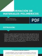 Trasformación de Materiales Poliméricos