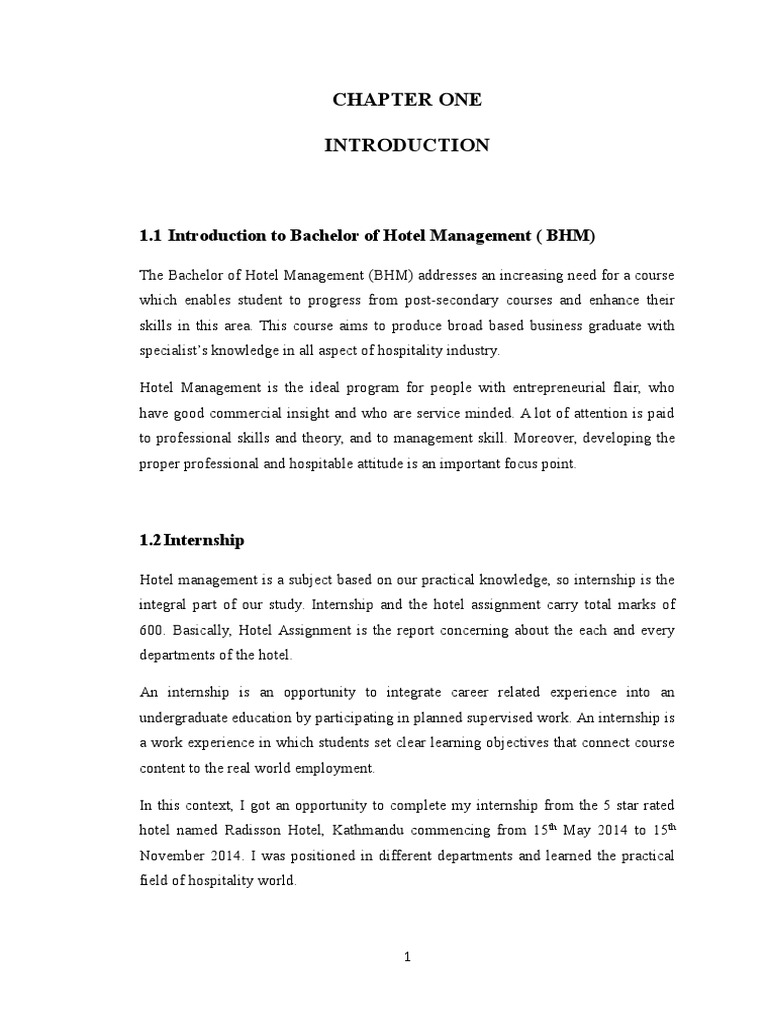 Radisson Hotel Internship Report | Bar | Hotel