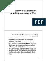 Arquitectura de Aplicaciones Para La Web 2009