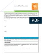 Sample Development Plan Template