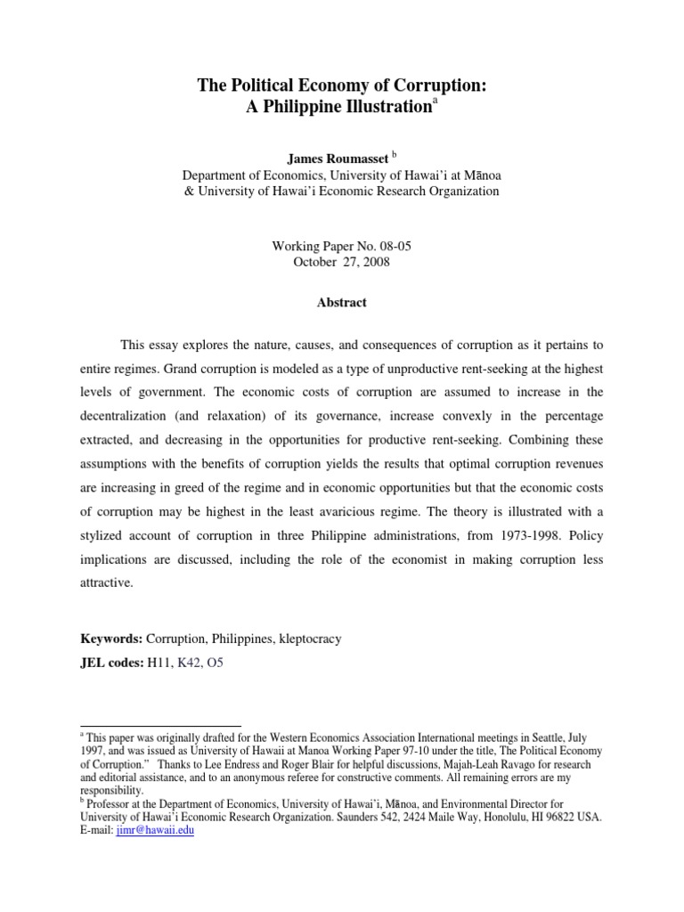 Essay on Political corruption - blogger.com
