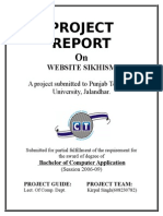 A project submitted to Punjab Technical University, Jalandhar.