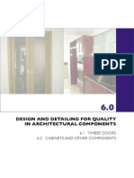 DESIGN AND DETAILING FOR QUALITY  IN ARCHITECTURAL COMPONENTS