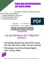 9. PEMAKAIAN  EYD