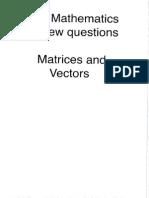 IB Math HL Matrices and Vectors
