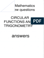 IB Math HL Functions and Trigonometry Answers