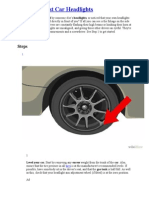 How to Adjust Car Headlights