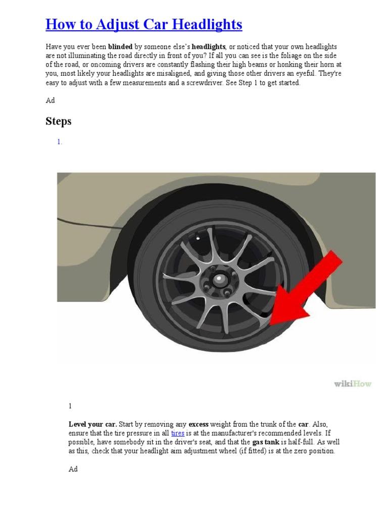 How to adjust car headlights headlamp automobiles sciox Choice Image