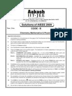 Solutions of AIEEE 2009