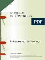 Individual Enterpreneurs