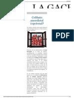Celibato sacerdotal ¿opcional  La Gaceta.pdf