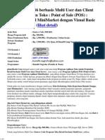 Source Code VB6 Berbasis Multi User Dan Client Server _ Program Toko - Point of Sale (POS) - Penjualan Retail MiniMarket