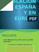 La Población en España y en Europa