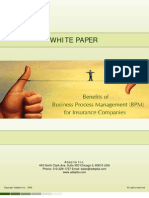 Whitepaper - Benefits of business process management for insurance companies