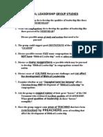 Biblical Leadership Group Studies