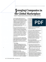 managing companies in the global marketplace