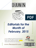 DAWN Editorials - February 2015