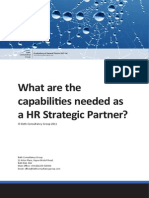 What Are the Capabilities Needed as a HR Partner