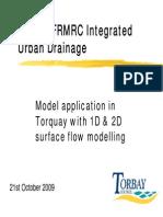 1D&2D Modelling UDM - Torquay