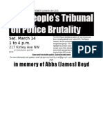 ABQ Justice People's Tribunal Flyer