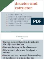 Constructor and Destructors