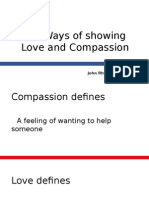 Ways of Showing Love and-compassion