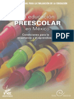 La Educación Preescolar, Calidad INEE