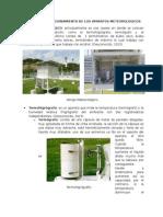 Descripción y Funcionamiento de Los Aparatos Meteorológicos