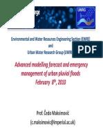 Maksimovic - Advanced Modelling Forecast and Emergency Management