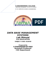 Dbms r10 Main Index